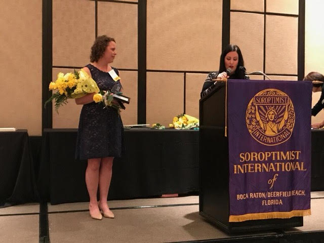 Rachel was also honored to be awarded the 2017 Soroptomist Woman of Distinction in Healthcare.